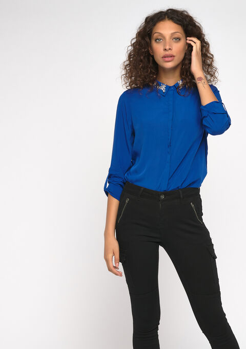 Plain color shirt - BLUE TATE - 05700396_2914