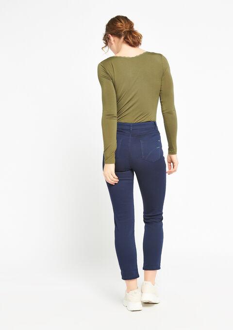 Slim broek met enkel-rits - BLACK IRIS - 918500