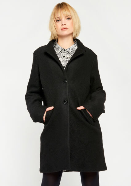 Straight coat, knee-length - BLACK - 23000085_1119