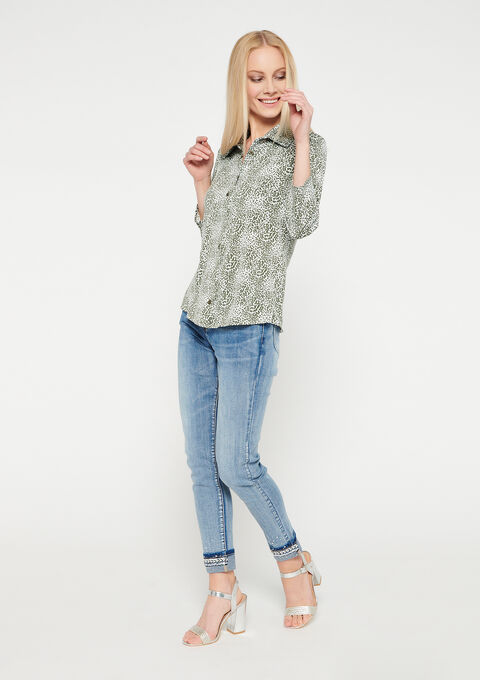 Hemd met luipaardprint - KHAKI SOFTY - 02300654_4317