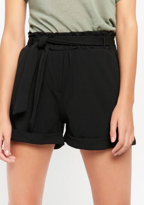 Short crepe materiaal - BLACK - 06100213_1119