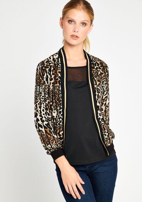 Licht jasje in luipaardprint - CAMEL ALMOND - 09100075_3807