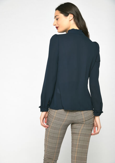 Blouse met ruches - NAVY SHADOW - 05701266_2713