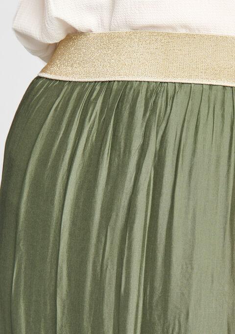 Jupe longue  soie - KHAKI REAL - 07001968_4301
