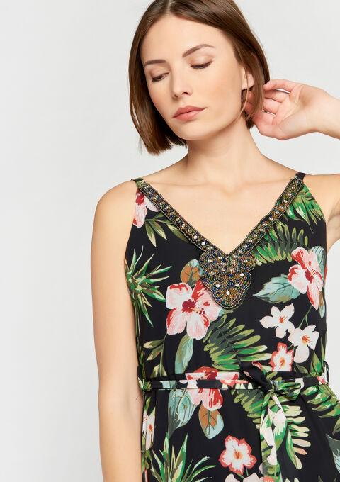 Robe Longue Imprime Tropical Lolaliza
