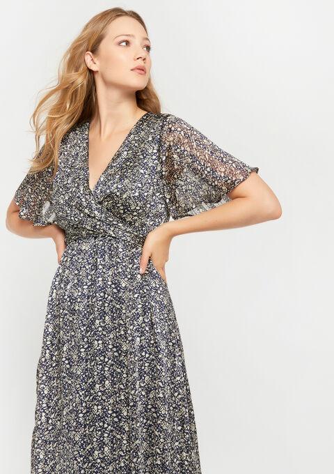 Maxi robe imprimé liberty - NAVY BLUE - 08600968_1651