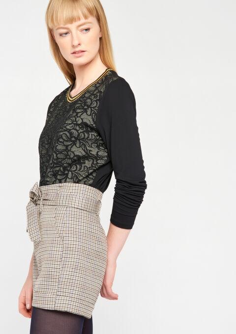 Jacquard sweater - BLACK - 03001258_1119