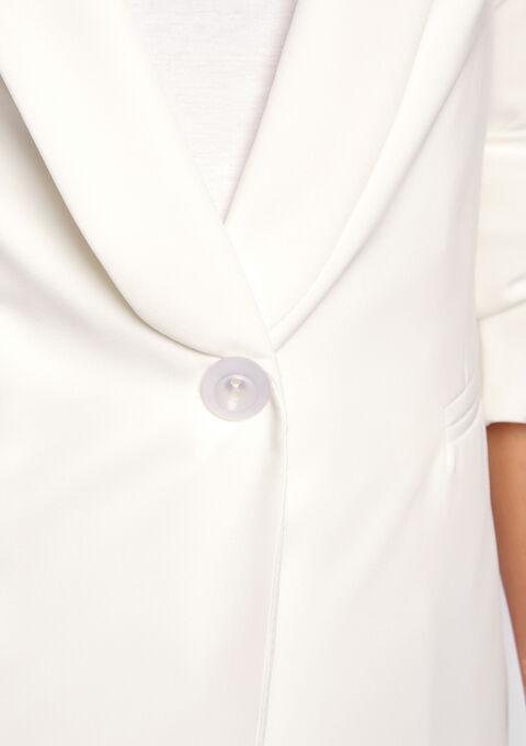 Blazer doublé  grand bouton - OFFWHITE - 09100004_1001