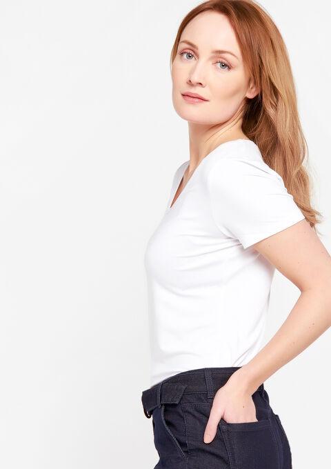 T-shirt met ronde hals & korte mouwen - OPTICAL WHITE - 919966