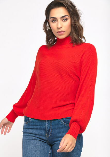 Pull manches ballon - FLAME RED - 04004866_1398