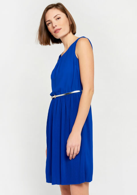 Plissé-jurk - BLUE ELECTRICAL - 930452