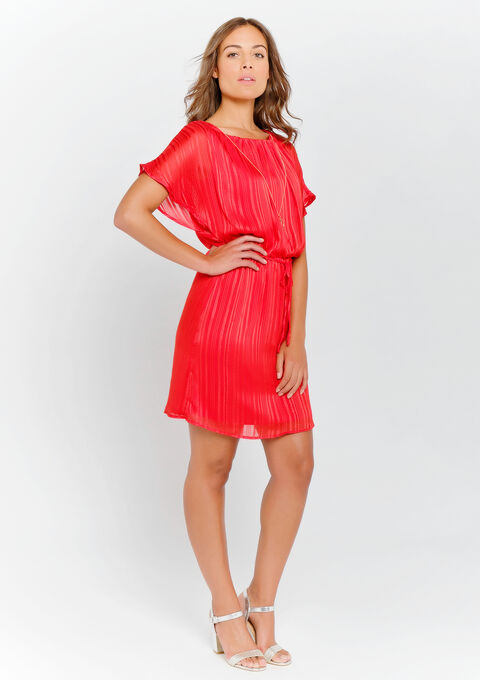 Mini jurk met halsketting - REAL RED - 08100703_1393