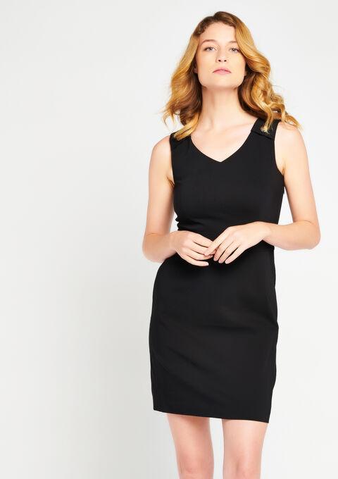 63f5751895837 Unicolor smart dress without sleeves - LolaLiza
