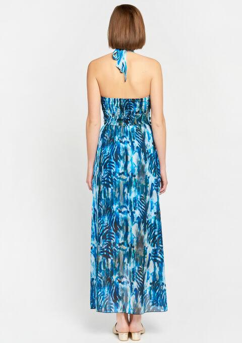 Maxi-jurk met tie dye print - BLUE TURQUOISE - 08600461_1738