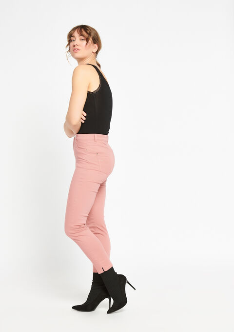 Slim broek met enkel-rits - COSMI PINK - 06003789_4101
