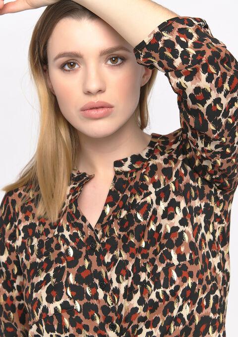 Blouse met luipaardprint - TOFFEE BROWN - 05701349_1154