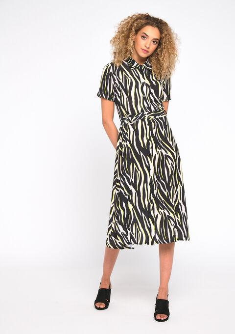 Jurk zebra-print - FLUO YELLOW - 08101537_4916