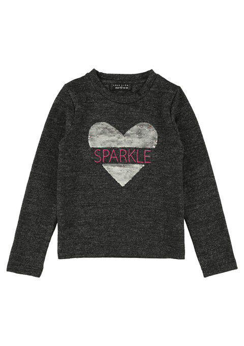 Sweater met lovertjes - BLACK - 03001214_1119