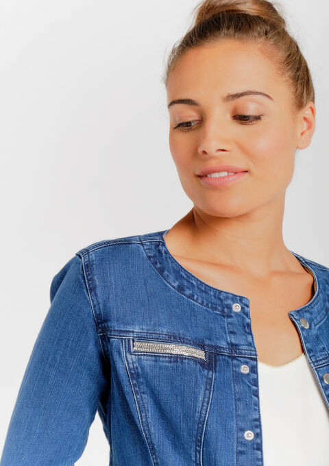 Veste en jeans - MEDIUM BLUE - 09100165_500