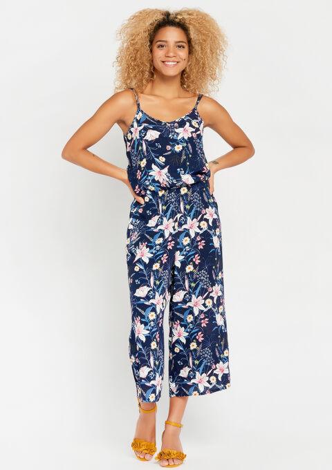 Floral jumpsuit - BLACK IRIS - 06003861_1667