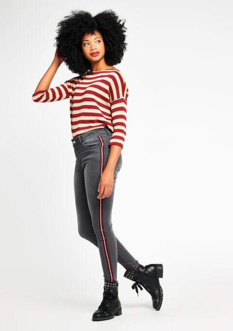 Skinny jeans met streep opzij - MEDIUM GREY - 06003719_512