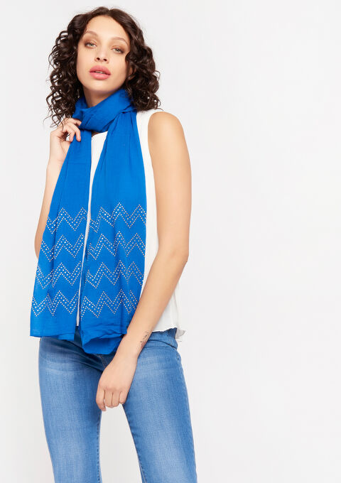 Sjaal met studs - ELECTRIC BLUE - 996305
