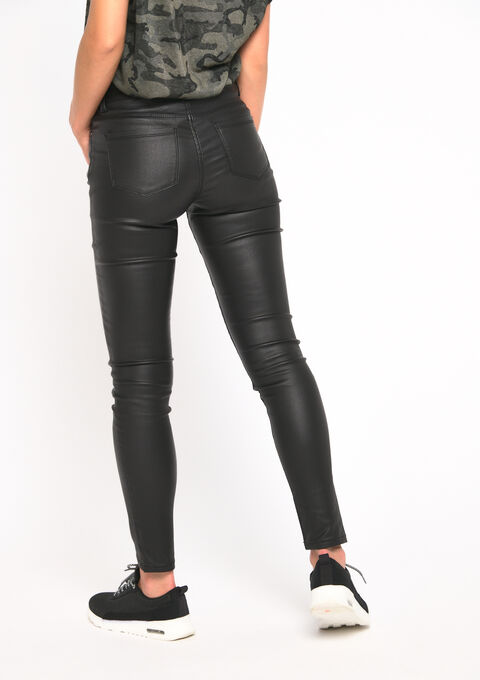 Pantalon effet huilé - BLACK - 06003889_1119