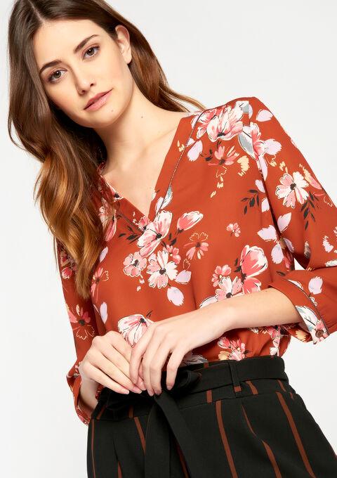 V-hals blouse met bloemenprint - CAMEL TRUSH - 05700252_3808