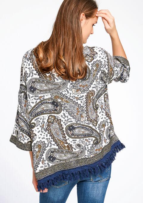 Geprinte jas in kimono stijl - MULTICO - 09000696_1000