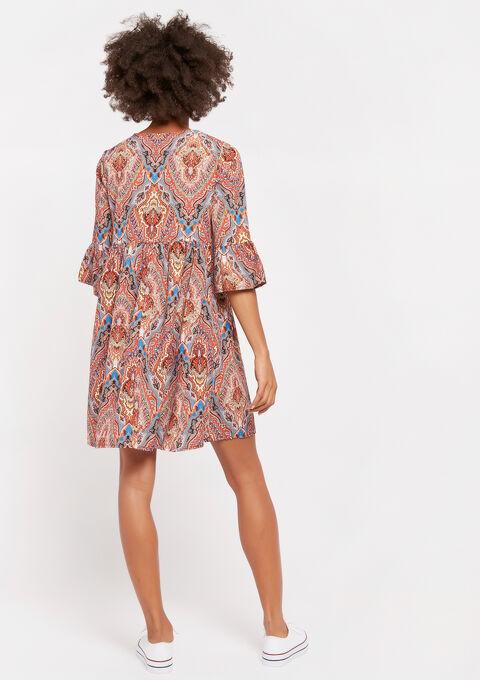 Mini robe babydoll - ORANGE BRIGHT - 08101613_1255
