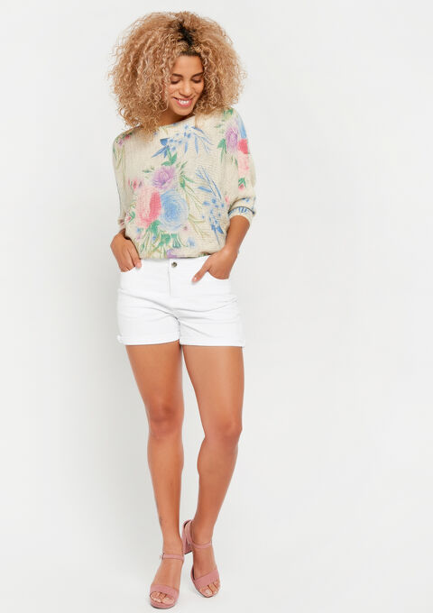Short met 5 zakken - BRIGHT WHITE - 06100164_1016
