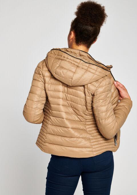 Gewatteerde jas met kap - SANDY - 900076