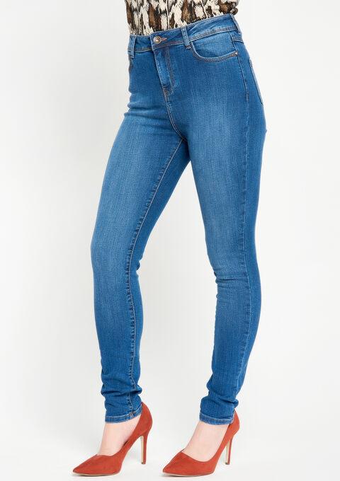 Skinny jeans met hoge taille - MEDIUM BLUE - 22000022_500