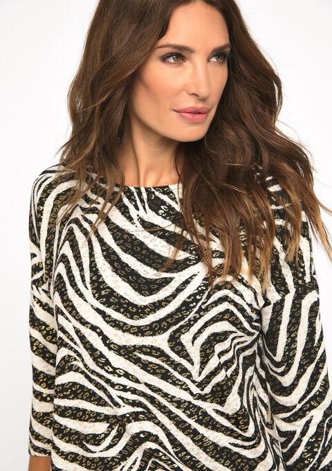 Sweater met zebra print - BLACK - 03001423_1119