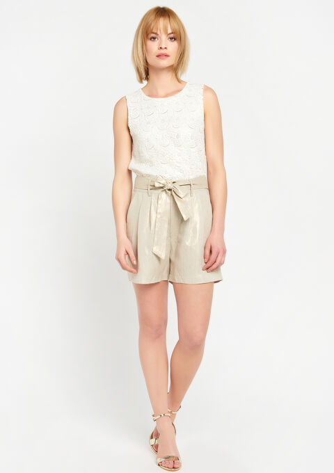 Short in linnen - SIMPLE TAUPE - 928396