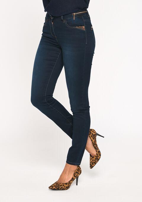Skinny denim broek - DARK BLUE - 22000110_501