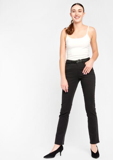 Basic broek met normale taille - BLACK - 06003550_1119