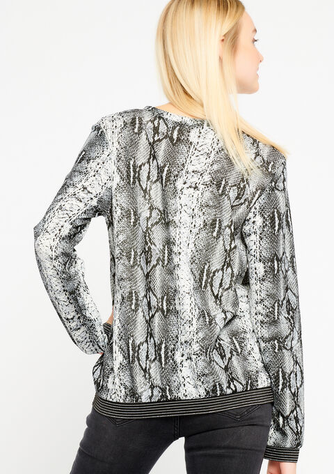 Sweater met ronde hals, pythonprint - SIMPLE TAUPE - 03001322_1044