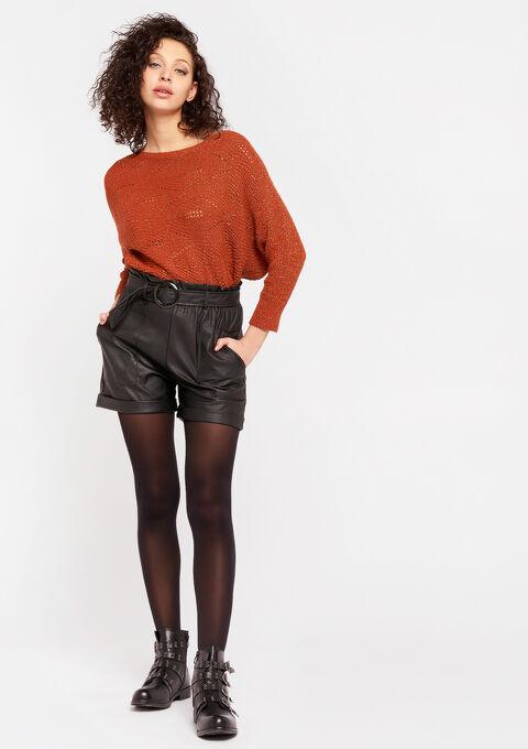 Short simili-cuir - BLACK - 06100258_1119