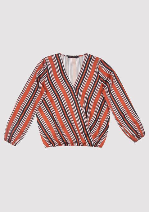 Gestreepte cache coeur blouse - CAMEL TRUSH - 05700256_3808