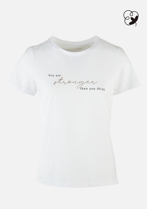 T-shirt organic katoen - REAL WHITE - 02300597_2509
