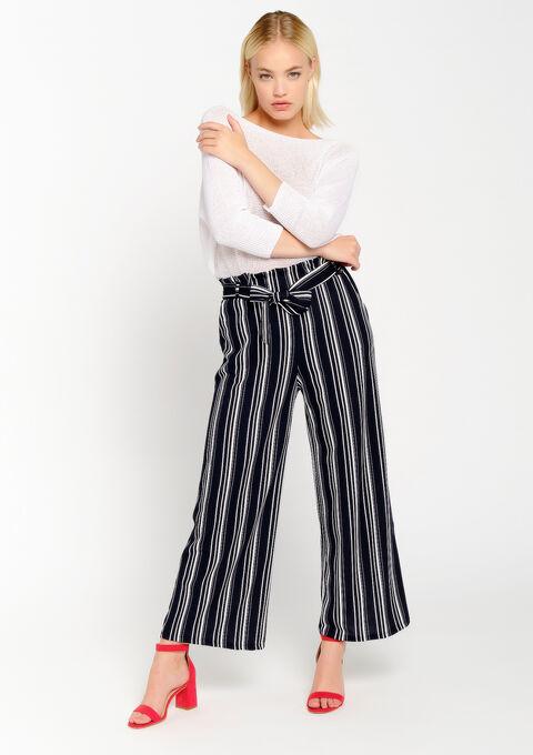Pantalon ample à rayures - PEACOAT BLUE - 06600132_1655