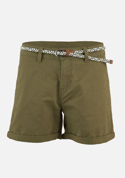 Chino short - KHAKI FIG - 06100237_4305