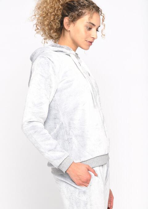 Vest imitatievacht en capuchon - LIGHT GREY - 15100024_1076