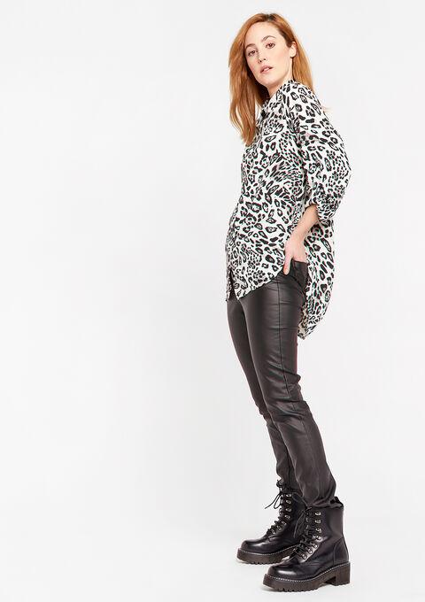 Chemise longue imprimé léopard - GREY - 05701377_1062