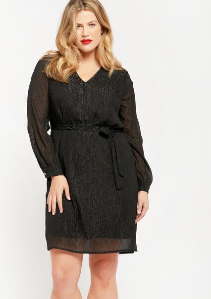 Mini rechte jurk - BLACK BEAUTY - 08102401_2600