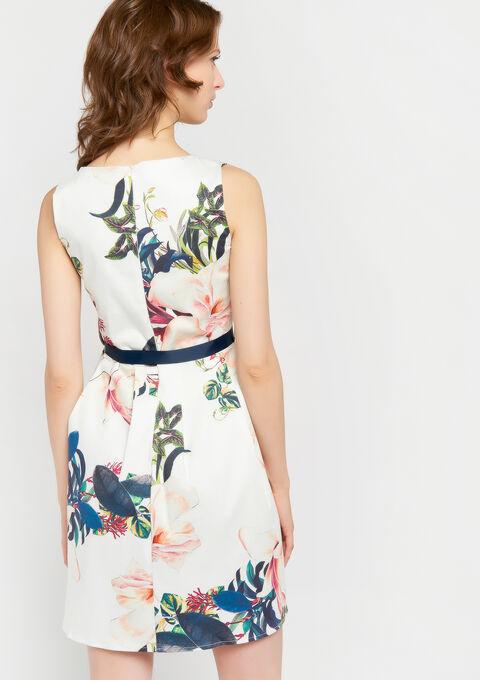 A-lijn jurk met bloemenprint - WHITE ALYSSUM - 948428