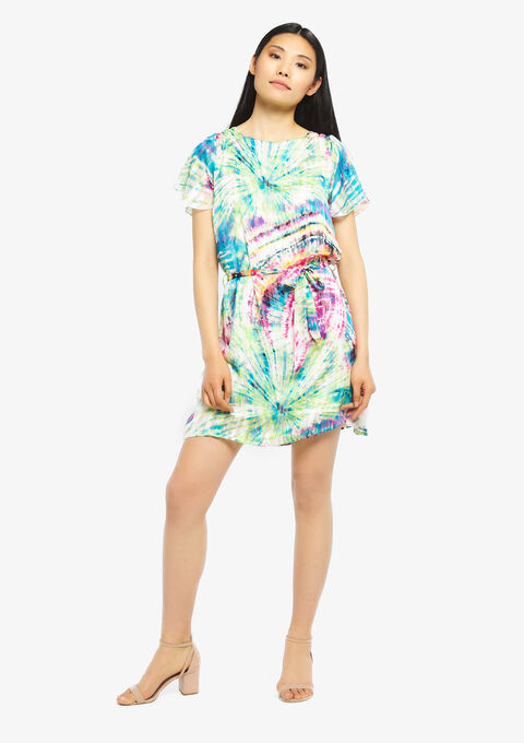 Dip dye jurk - FUSCHIA PINK - 08100749_1465