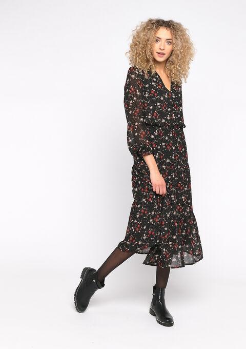 Hemd jurk met bloemenprint - MANGO PINK - 08601022_5616
