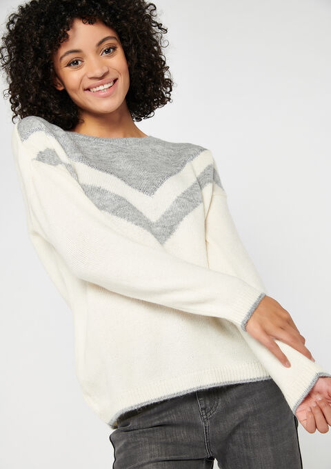 Pull color block - MED GREY MEL - 04004935_1063
